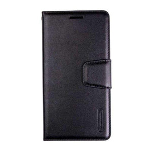 Luxury A91 Wallet Case-Black