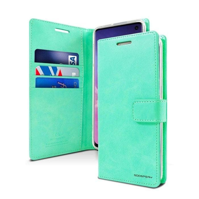 Mercury Blue Moon Diary Case for Samsung Galaxy S10 - Mint