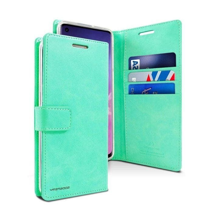 Mercury Blue Moon Diary Case for Samsung Galaxy S10 - Mint Android