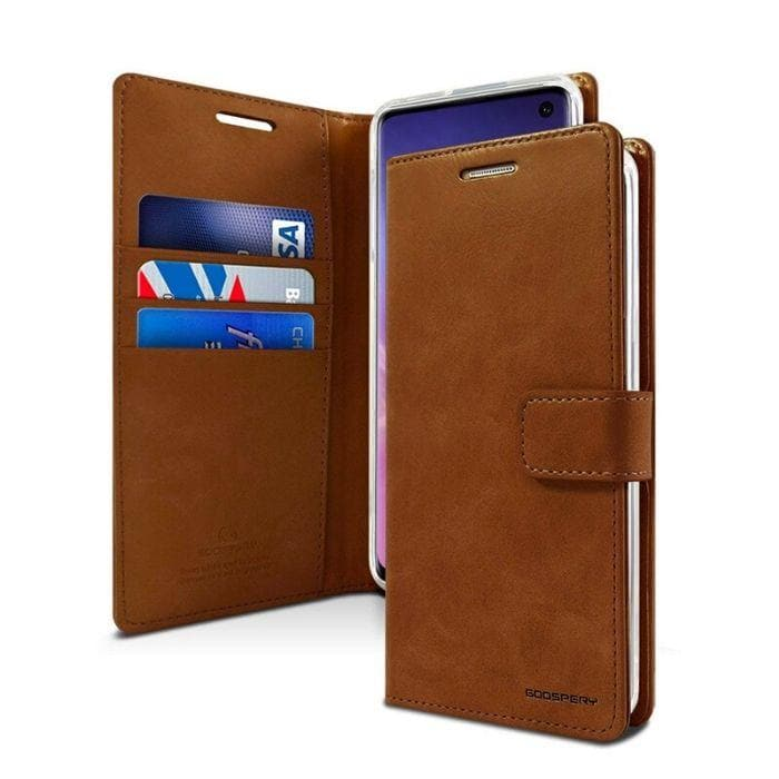 Mercury Blue Moon Diary Case for Samsung Galaxy S10 Plus - Brown
