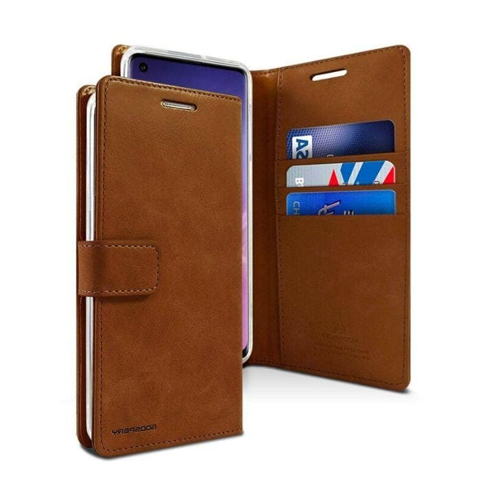 Mercury Blue Moon Diary Case for Samsung Galaxy S10 Plus - Brown Android