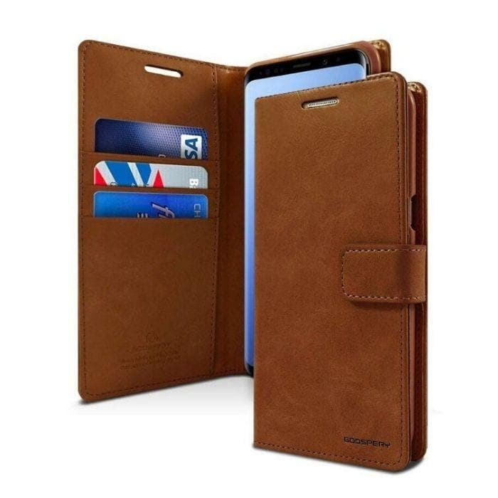 Mercury Blue Moon Diary Case for Samsung Galaxy S9 - Brown