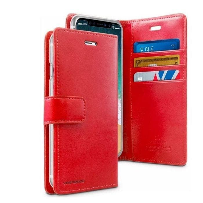 Mercury Blue Moon Diary Case for iPhone 11 - Red Apple