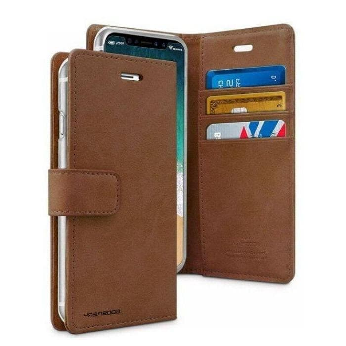 Mercury Blue Moon Diary Case for iPhone 11 Pro Max - Brown Apple