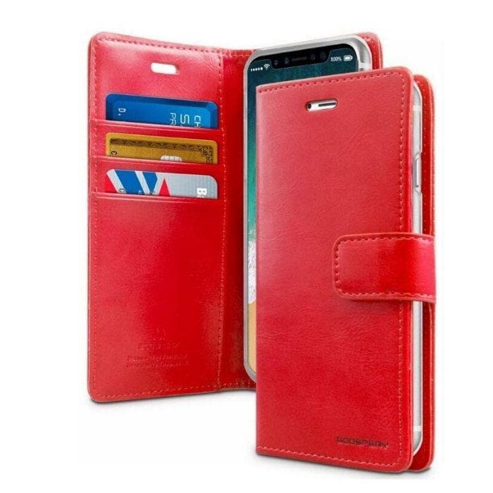 Mercury Blue Moon Diary Case for iPhone 11 Pro Max - Red