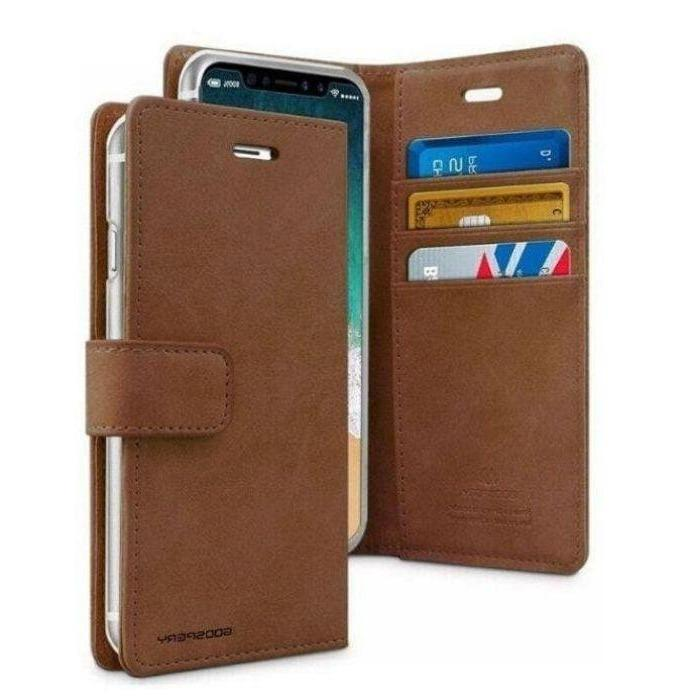 Mercury Blue Moon Diary Case for iPhone 12 Pro Max - Brown Apple