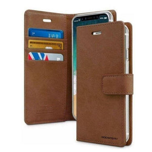 Mercury Blue Moon Diary Case for iPhone 12 Pro Max - Brown
