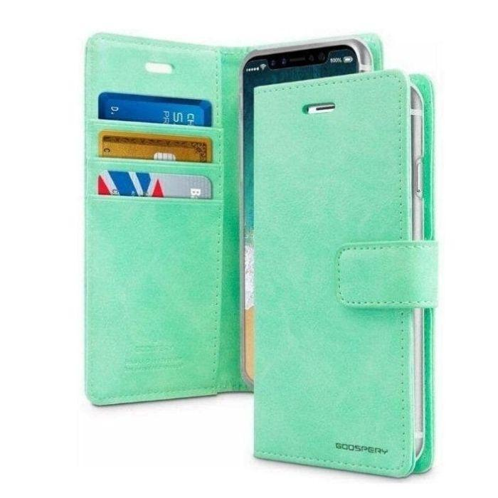 Mercury Blue Moon Diary Case for iPhone 12 Pro Max - Mint Apple