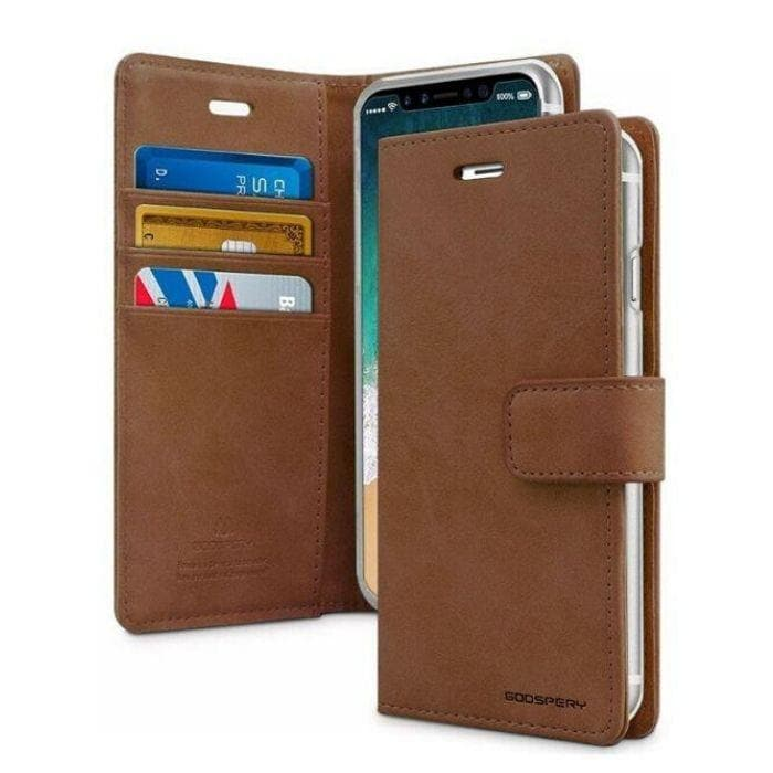 Mercury Blue Moon Diary Case for iPhone XS Max - Brown