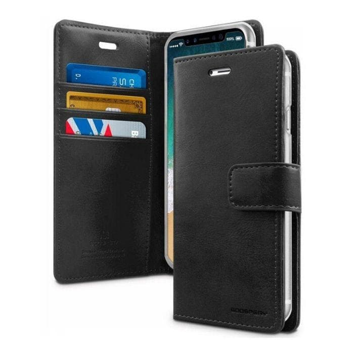 Mercury Blue Moon Diary Case for iPhone XR - Black