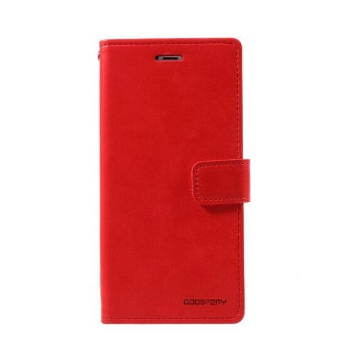 Mercury Blue Moon Diary Case for iPhone XR - Red front