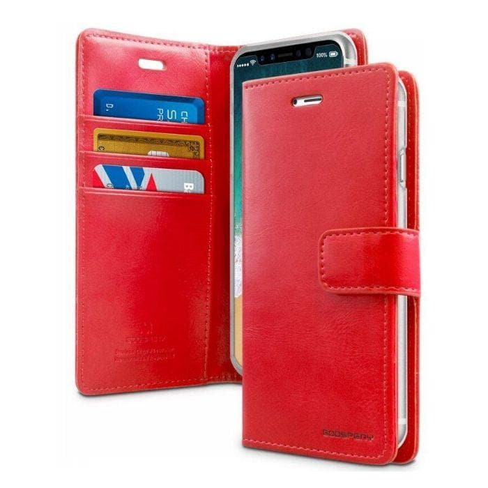 Mercury Blue Moon Diary Case for iPhone XR - Red