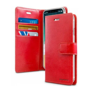 Mercury Blue Moon Diary Case for iPhone XS Max - Red