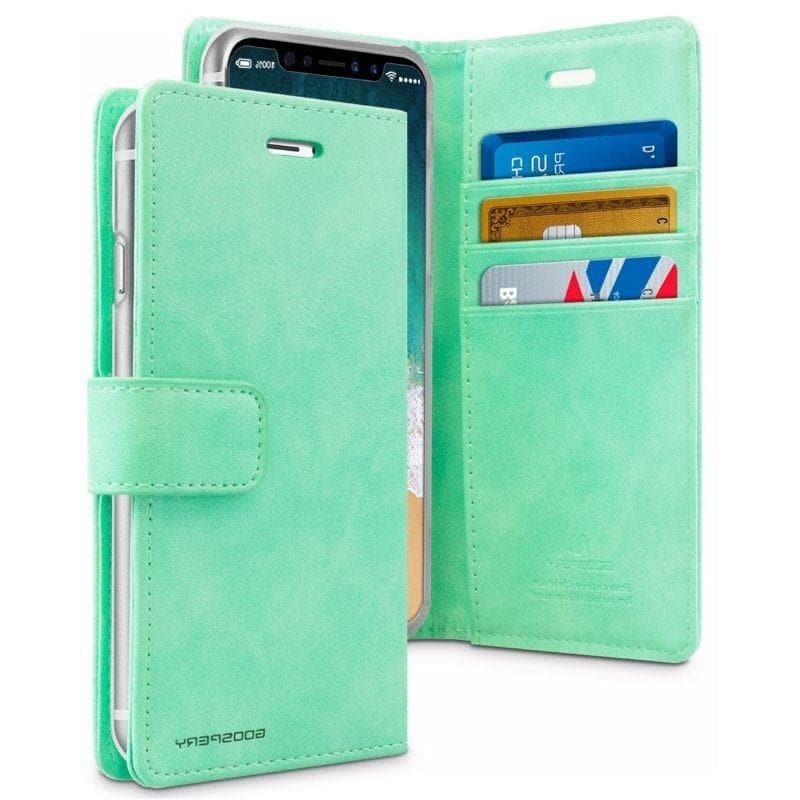 Mercury Blue Moon Diary Case for iPhone XS Max - Mint