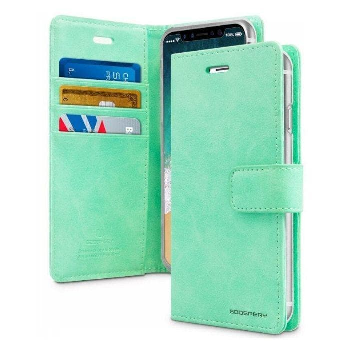Mercury Blue Moon Diary Case for iPhone XXS - Mint