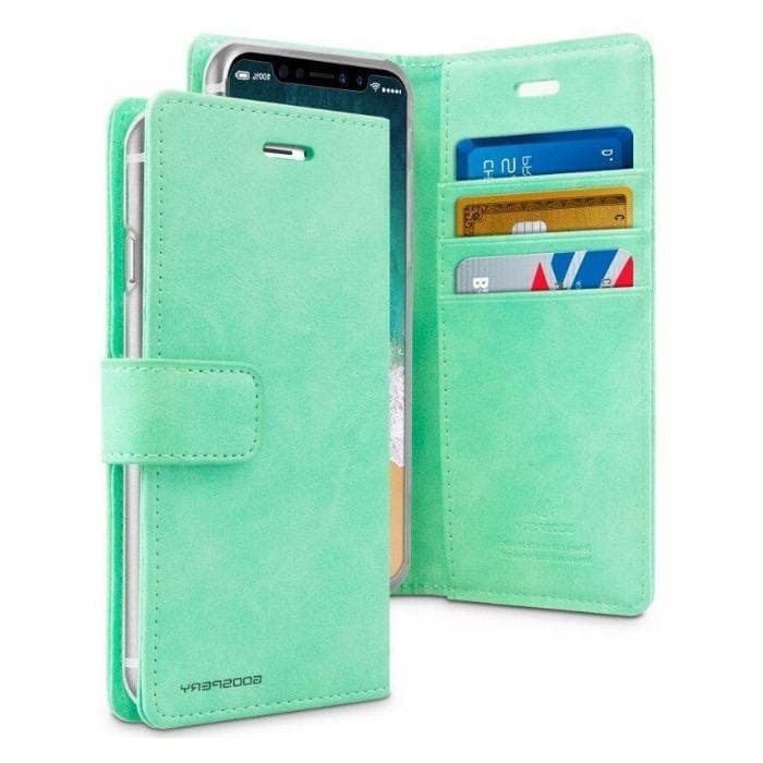 Mercury Blue Moon Diary Cases for iPhone XXS - Mint