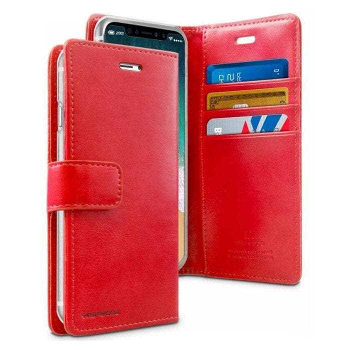 Mercury Blue Moon Diary Cases for iPhone XXS - Red