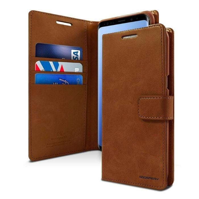 Mercury Blue Moon Diary Samsung Galaxy S8 Plus Case - Brown