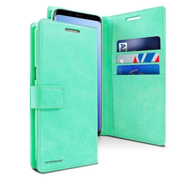 Mercury Blue Moon Diary Samsung Galaxy S9 - Mint Android