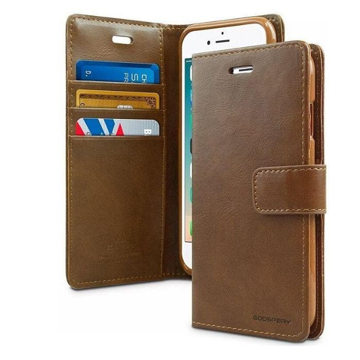 Mercury Blue Moon Diary iPhone 5/5s/SE Case - Brown