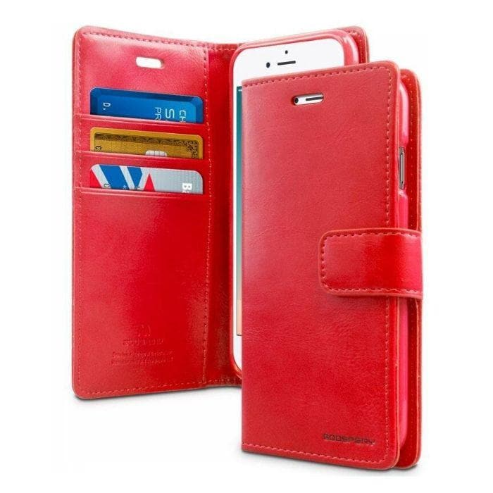 Mercury Blue Moon Diary iPhone 66s Plus Case - Red Apple