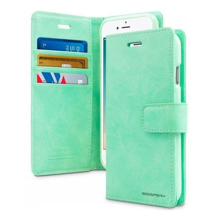 Mercury Blue Moon Diary iPhone 78SE 2020 Case - Mint