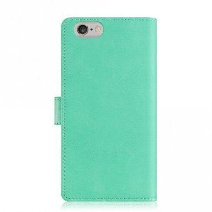 Mercury Blue Moon Diary iPhone 78SE 2020 Case - Mint back