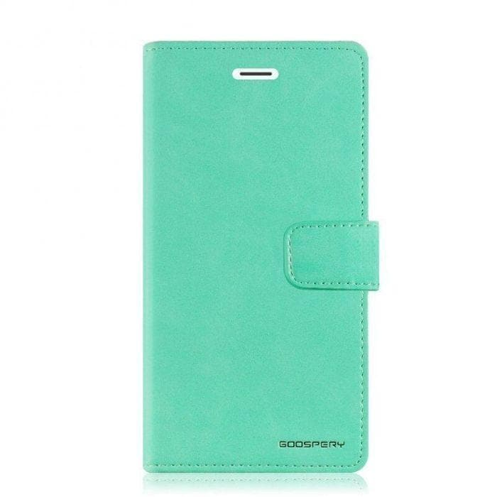 Mercury Blue Moon Diary iPhone 78SE 2020 Case - Mint front