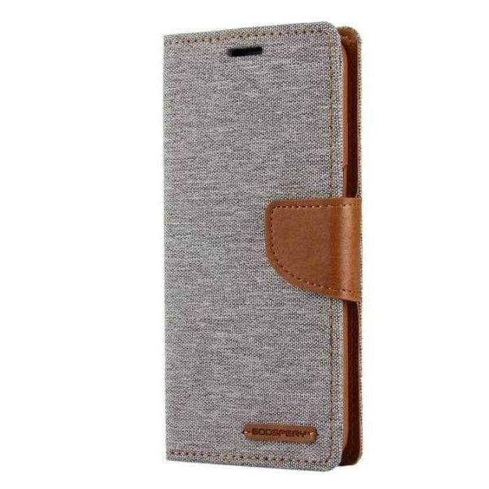 Mercury Canvas Diary Case for Samsung Galaxy S8 - Gray
