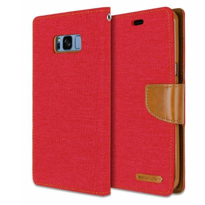 Mercury Canvas Diary Case for Samsung Galaxy S8 - Red