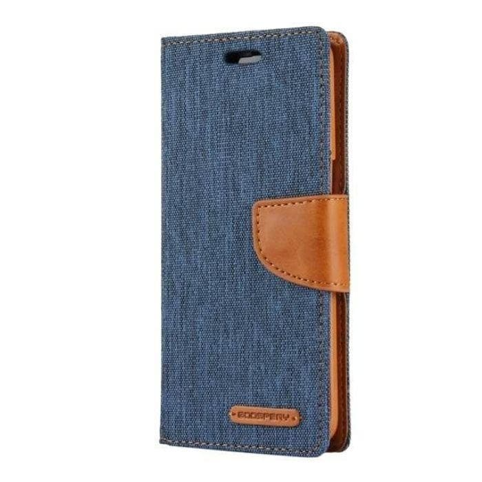 Mercury Canvas Diary Case for Samsung Galaxy S8 Plus - Navy Camel