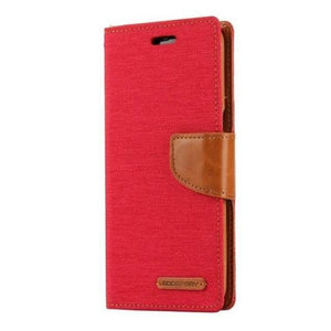 Mercury Canvas Diary Case for Samsung Galaxy S8 Plus - Red