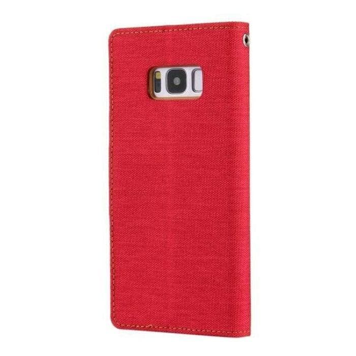 Mercury Canvas Diary Case for Samsung Galaxy S8 Plus - Red back