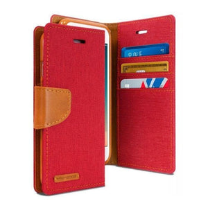 Mercury Canvas Diary Case for iPhone 78 - Red Apple