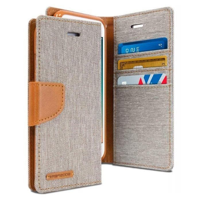 Mercury Canvas Diary Case for iPhone 78 Plus - Gray Apple