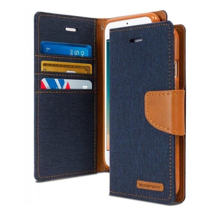 Mercury Canvas Diary Case for iPhone 78 Plus - Navy