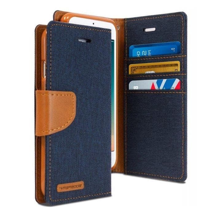 Mercury Canvas Diary Case for iPhone 78 Plus - Navy Apple