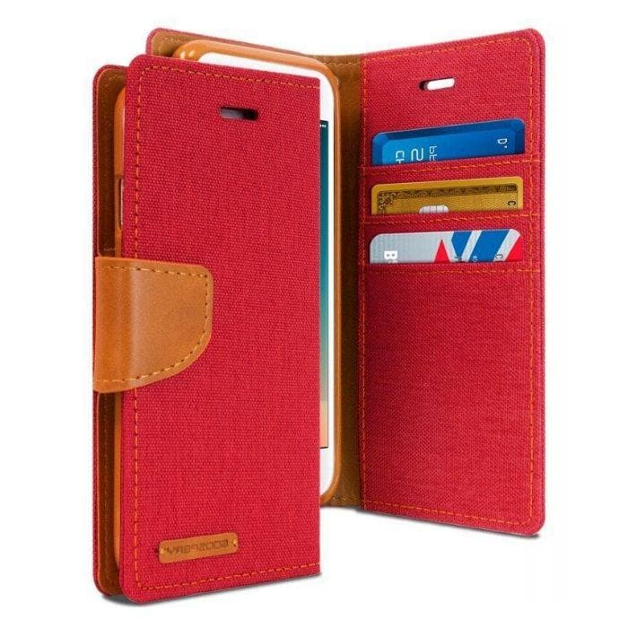 Mercury Canvas Diary Case for iPhone 78 Plus - Red Apple