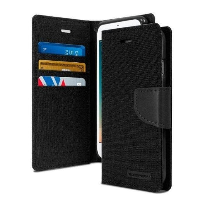 Mercury Canvas Diary Case for iPhone 7/8 Plus - Black