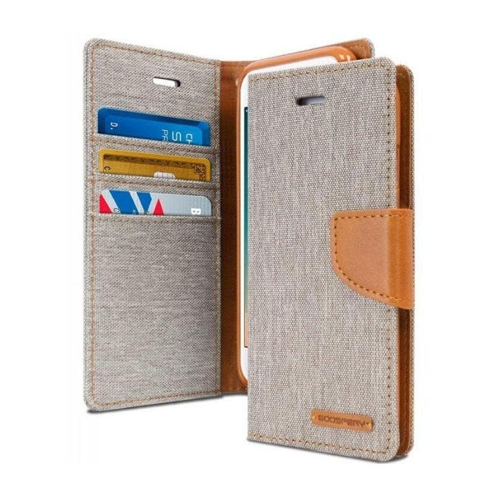 Mercury Canvas Diary Case for iPhone 78 Plus - Gray