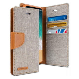 Mercury Canvas Diary Case for iPhone XXS - Gray Apple