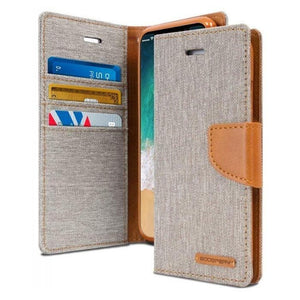 Mercury Canvas Diary Case for iPhone XXS - Gray