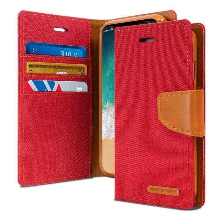 Mercury Canvas Diary Case for iPhone XXS - Red