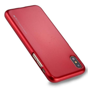 Mercury Jelly Case for iPhone XXS - Metal Red