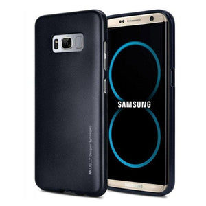 Mercury Jelly Case for Samsung Galaxy S8 Plus - Metal Dark Navy Android