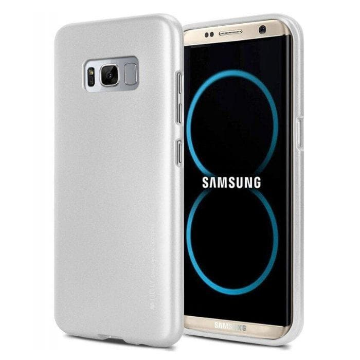 Mercury Jelly Case for Samsung Galaxy S8  - Metal Silver