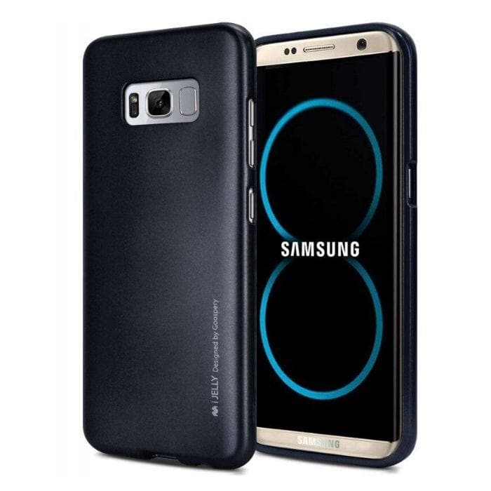 Mercury Jelly Case for Samsung Galaxy S8 Plus - Metal Dark Navy