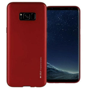 Mercury Jelly Case for Samsung Galaxy S8 Plus - Metal Red