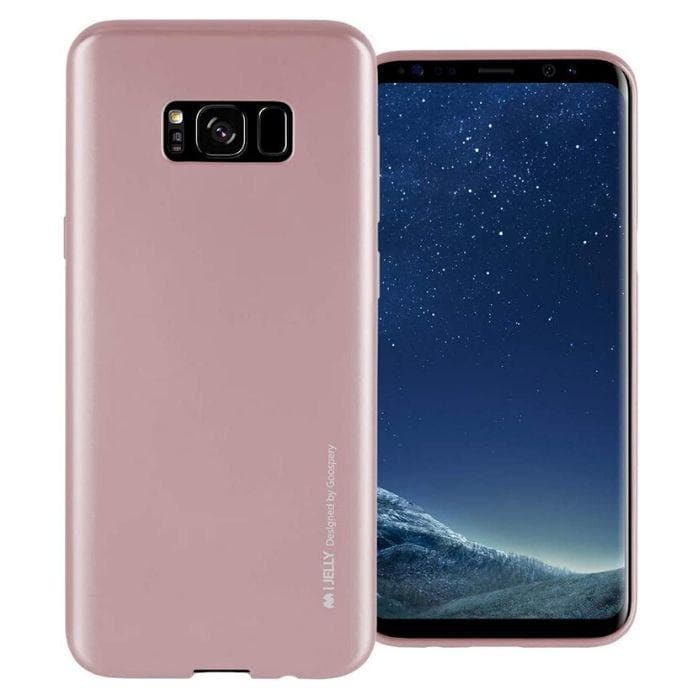 Mercury Jelly Case for Samsung Galaxy S8 Plus - Metal Rose Gold
