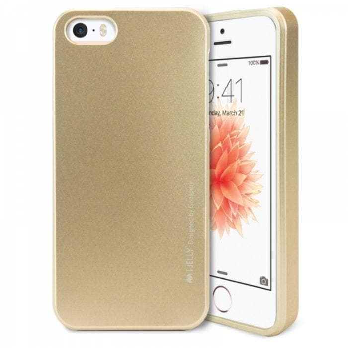 Mercury Jelly Case for iPhone 55sSE - Metal Gold Apple